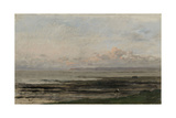 Beach at Ebb Tide Print by Charles Francois Daubigny