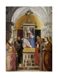 Virgin and Child with Saints Posters by Marcello Fogolino