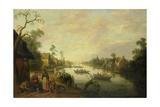 View of a River, Joost Cornelisz Droochsloot Poster by Joost Cornelisz Droochsloot