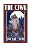 The Owl for Sale Here Posters by Elisha Brown Bird