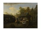 Fish Market Prints by Cornelis Dusart