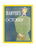 Harper's October Print by Edward Penfield