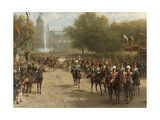 Het Frederiksplein Te Amsterdam Tijdens De Intocht Van Koningin Wilhelmina, 5 September Posters by Otto Eerelman