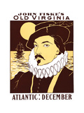 Atlantic: December, John Fiske's Old Virginia Print by James Montgomery Flagg