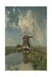 A Windmill on a Polder Waterway, known as in the Month of July Prints by Paul Joseph Constantin Gabriel