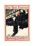 The Post Express, Holiday Number Prints by Elisha Brown Bird