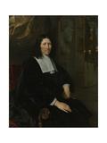 Portrait of Pieter De La Court Poster by Abraham van den Tempel
