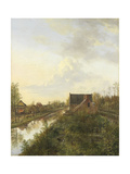 Canal at Graveland Prints by Pieter Gerardus van Os