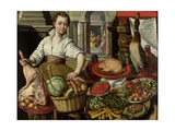 Kitchen Scene, with Jesus in the House of Martha and Mary Prints by Joachim Bueckelaer