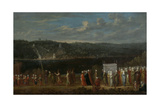Wedding Procession on the Bosphorus Giclée-Premiumdruck von Jean Baptiste Vanmour