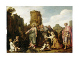 Christ and the Canaanite Woman Art by Pieter Lastman