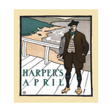 Harper's April Print by Edward Penfield
