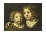 A Daughter and a Son (Constantijn) of the Artist Art by Caspar Netscher