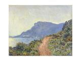 La Corniche in Monaco Art by Claude Monet