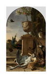 A Hunters Bag on a Terrace Art by Melchior d'Hondecoeter