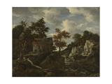 Rocky Landscape Print by Jacob Isaacksz Van Ruisdael