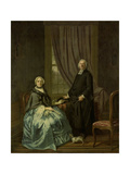 Portrait of Petrus Bliek, Remonstrant Minister in Amsterdam, with His Wife Cornelia Drost Posters by Hendrik Pothoven