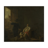 Wine Merchants Signboard: Tasting Wine, Vats of Wine Prints by Aelbert Cuyp