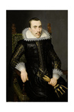 Portrait of a Man, Possibly Walterus Fourmenois (A Man from the Boudaen Courten Family) Prints by Salomon Mesdach