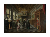 Wealthy Interior Prints by Dirck Van Delen