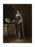 A Turkish Woman, Jean Baptiste Vanmour Kunstdrucke von Jean Baptiste Vanmour