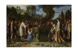 Orestes and Pylades Disputing at the Altar Prints by Pieter Lastman