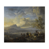 Heron Hunt, Philips Wouwerman Print by Philips Wouwerman