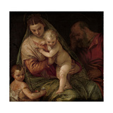 Holy Family with Young Saint John Poster von Paolo Veronese