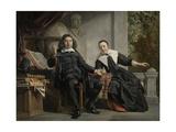 Abraham Casteleyn and His Wife, Margarieta Van Bancken Poster by Jan de Bray