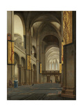 Nave and Choir of the Mariakerk in Utrecht Prints by Pieter Jansz Saenredam
