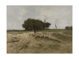 On the Heath Near Laren Prints by Anton Mauve