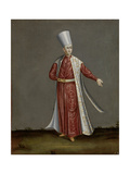 Capon Aghassi, Chief of the White Eunuchs of the Sultan Giclée-Premiumdruck von Jean Baptiste Vanmour