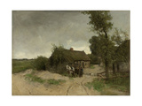 A House with Barn on a Dirt Road on the Moor Prints by Anton Mauve