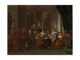 Banquet of Distinguished Turkish Women Print by Jean Baptiste Vanmour