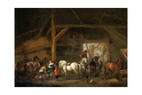 A Horse Stable Poster by Philips Wouwerman