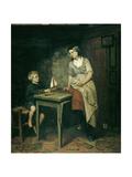 Fishermans Children Print by Bernardus Johannes Blommers