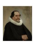 Portrait of Abraham De Potter, Amsterdam Silk Merchant Prints by Carel Fabritius
