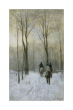 Riders in the Snow in the Haagse Bos Art by Anton Mauve