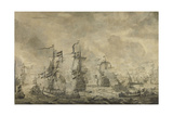 Battle Between the Dutch and Swedish Fleets, in the Sound Giclée-Premiumdruck von Willem van de Velde