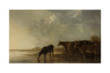 River Landscape with Cows Posters by Aelbert Cuyp