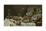 Still Life with a Turkey Pie Posters par Pieter Claesz