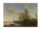 River View Near Deventer, Salomon Van Ruysdael Prints by Salomon van Ruysdael