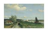 Geestbrug River Landscape Prints by Johan Hendrik Weissenbruch