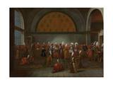 Meal in Honour of Ambassador Cornelis Calkoen Kunstdrucke von Jean Baptiste Vanmour