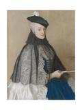 Portret Van Mme Boere, Jean-Etienne Liotard. Prints by Jean-Etienne Liotard