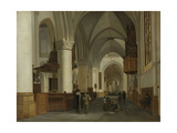 Interior of the Church of St Bavo in Haarlem Posters by Job Adriaensz Berckheyde