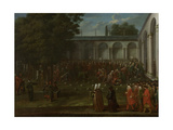 Cornelis Calkoen on His Way to His Audience with Sultan Ahmed III Giclée-Premiumdruck von Jean Baptiste Vanmour