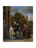 Adolf and Catharina Croeser, known as the Burgomaster of Delft and His Daughter Posters by Jan Havicksz Steen
