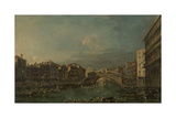 Regatta on the Canale Grande Near the Rialto Bridge in Venice Posters by Francesco Guardi