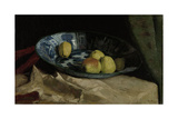 Still Life with Apples in a Delft Blue Bowl Posters by Willem de Zwart